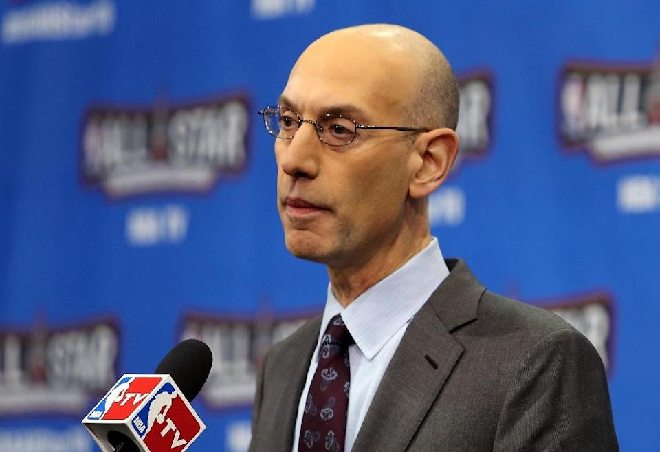 NBA Commissioner Adam Silver speaks at a press conference ahead of the All-Star Game at Air Canada Centre on February 13, 2016 (AFP Photo/Vaughn Ridley)