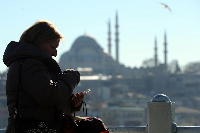 Twitter, Facebook and YouTube were inaccessible for many users in Turkey Monday, with the Hurriyet newspaper saying that service providers got an order from prosecutors to block those sites (AFP Photo/Ozan Kose)