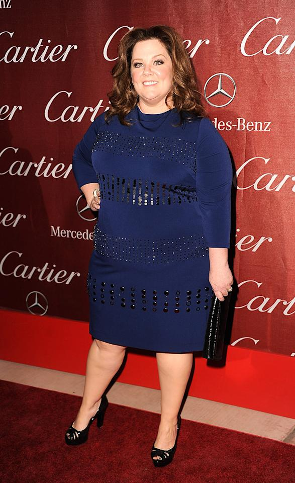 """<a href=""""http://movies.yahoo.com/movie/contributor/1804504085"""">Melissa McCarthy</a> attends the 23rd Annual Palm Springs Film Festival awards gala on January 7,2012."""