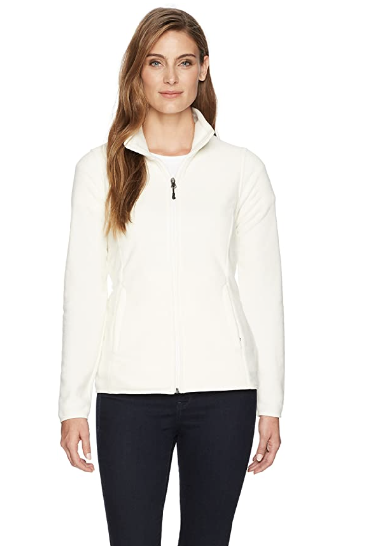 Amazon Essentials Women's Full-Zip Polar Fleece Jacket - $28.