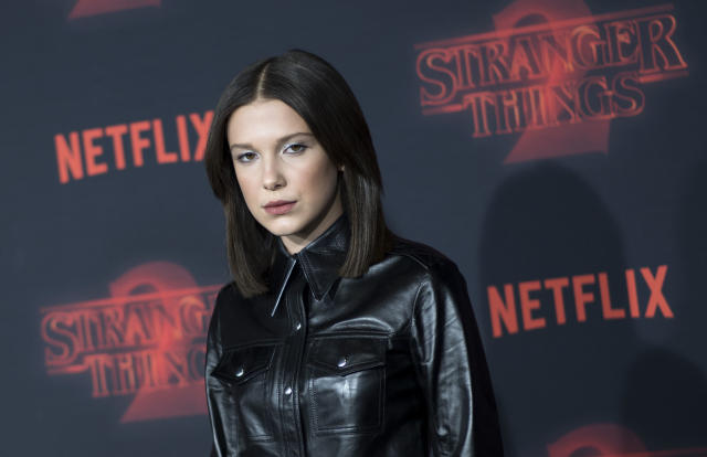 Actress Millie Bobby Brown attends Netflix's <em>Stranger Things 2</em> Westwoodcpremiere on Oct. 26, 2017, in Los Angeles. (Photo: Valerie Macon/AFP/Getty Images)