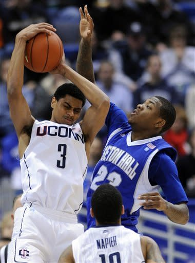 UConn beats Seton Hall 69-46 without Jim Calhoun