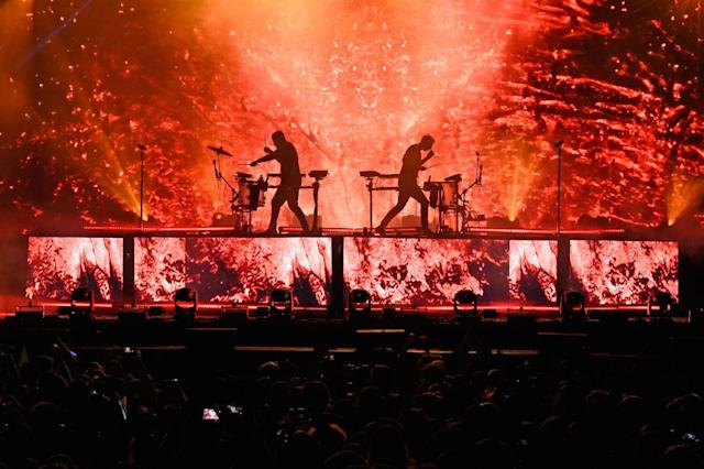 <p>ODESZA performs during the 2018 Firefly Music Festival in Dover, Delaware. (Photo: Getty Images) </p>