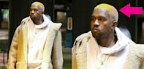 <p>Over the holidays, Kanye swapped his bleached blonde locks for a mirage of bright new hair colours: yellow, white and pink. The rapper was spotted with the cool colour-do when leaving a movie theatre in LA… at least he's getting in the festive spirit! <i> (Photos: Twitter/Complex/December 2016) </i> </p>