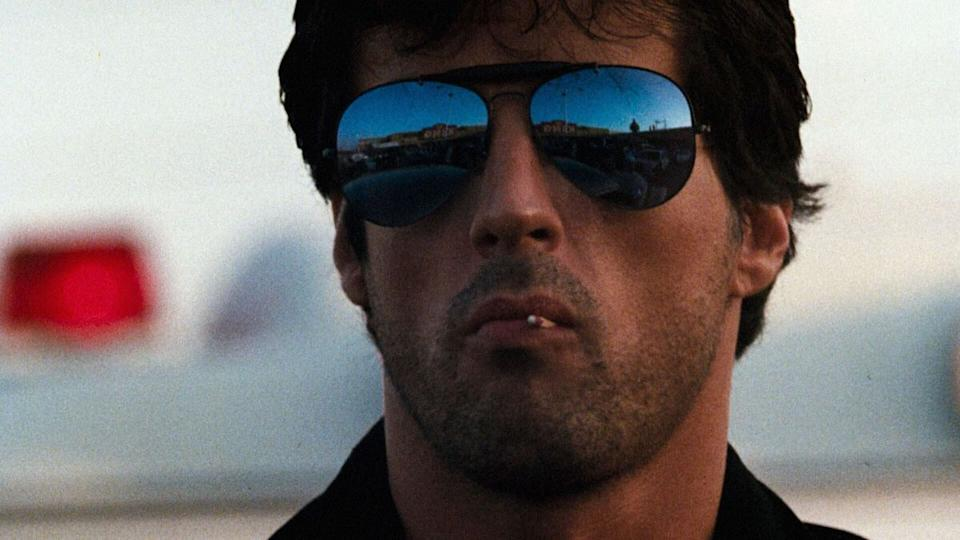 Sly Stallone in Cobra (credit: Cannon)