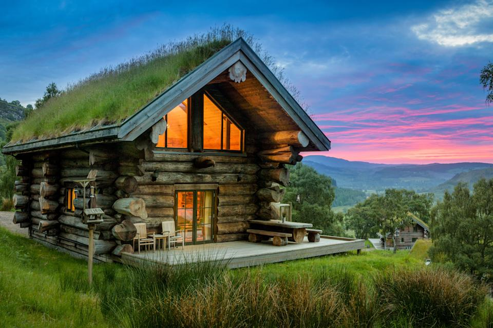 The luxury log cabins at Eagle Brae are pup-friendly