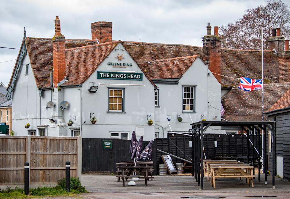 The Kings Head pub in Great Cornard, Suffolk. (SWNS)