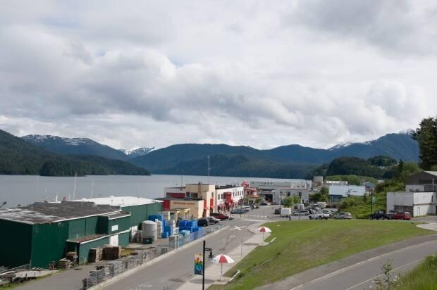 Waterfront of Prince Rupert, B.C., where nearly 80 per cent of adult residents have received at least one dose of COVID-19 vaccine. (A. Davey/Flickr - image credit)