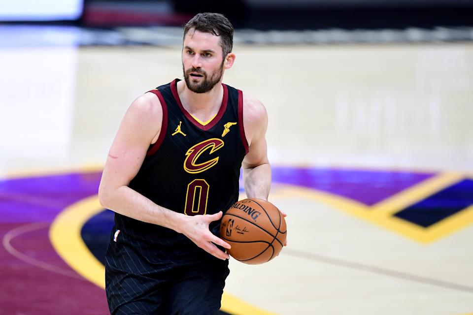 Kevin Love with the Cavaliers.