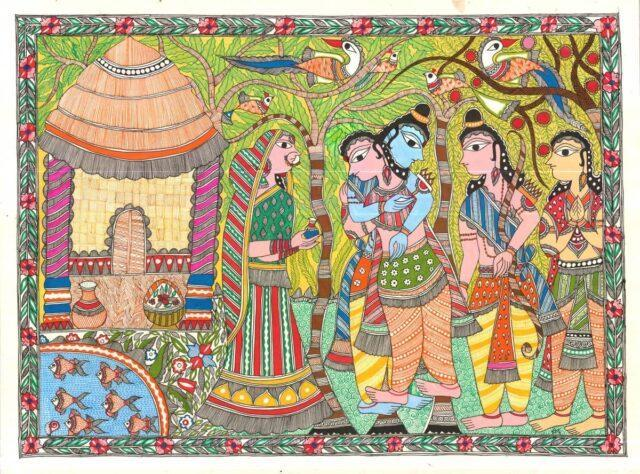A scene from the Ramayana