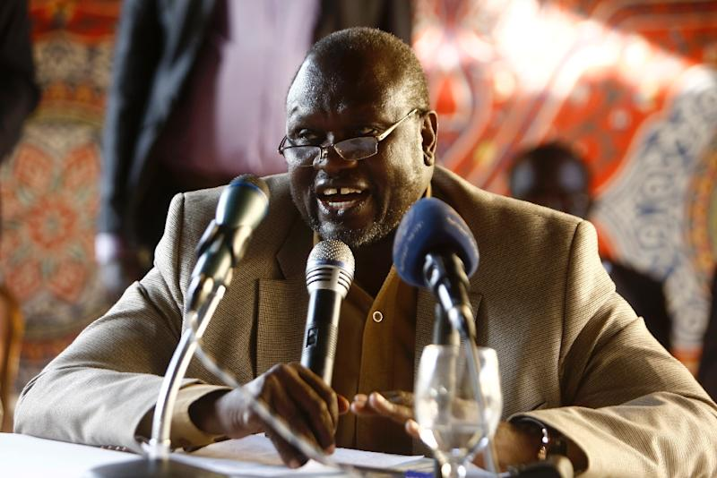 South Sudan's former Vice President and South Sudanese rebel leader Riek Machar, pictured during a meeting in the Sudanese capital Khartoum, in September 2015 (AFP Photo/Ashraf Shazly)