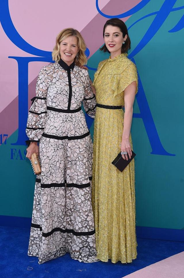 <p>The actress and her designer date do floor-length. (Photo: Getty Images) </p>