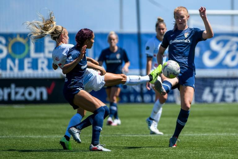 The National Women's Soccer League has announced it is postponing its weekend matches following allegations of sexual misconduct against a head coach (AFP/Alex Goodlett)