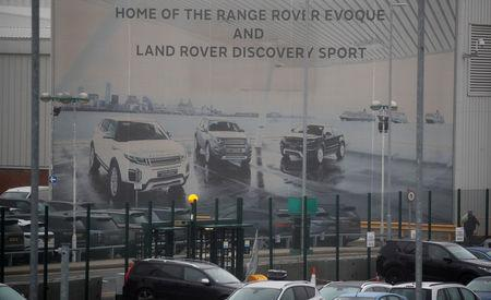 An entrance to Jaguar Landrover's Halewood Plant is seen in Liverpool, Britain, January 10, 2019. REUTERS/Phil Noble