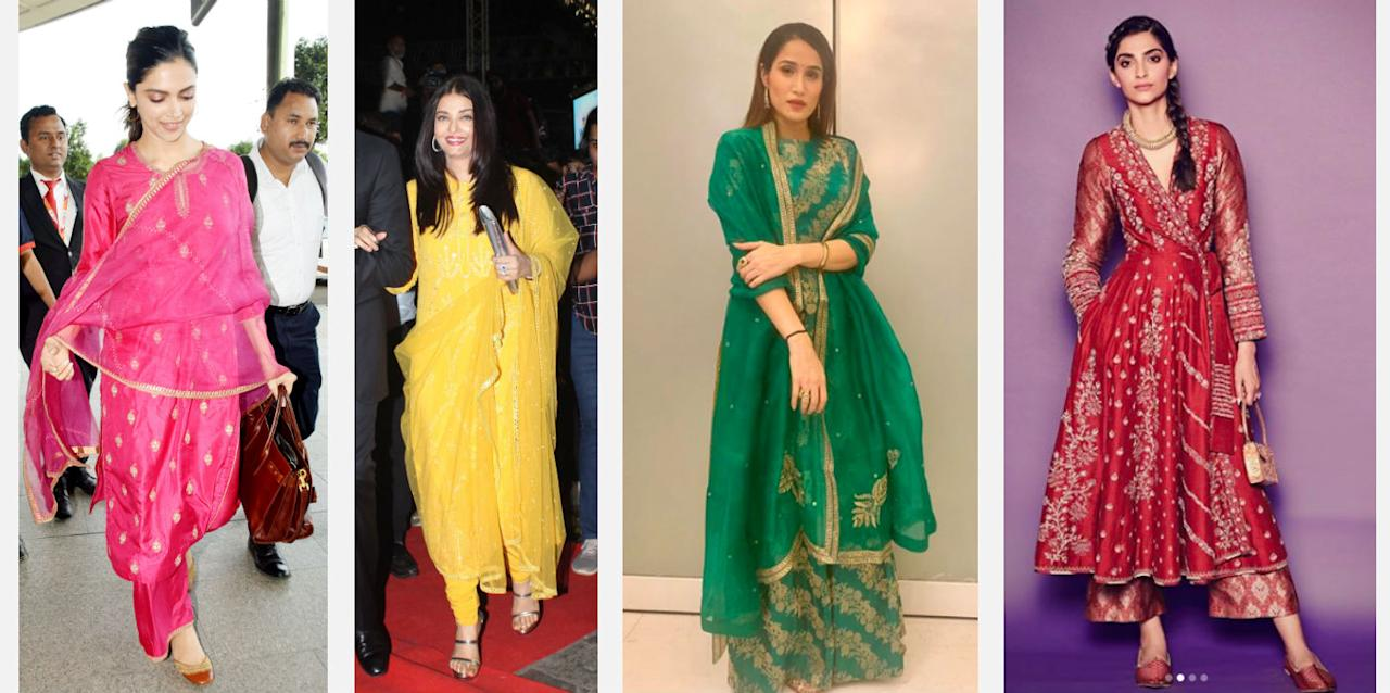 Taking cue from our Bollywood <em>kudis, </em>here are some of the pop coloured Indianwear we found online, and that too at a reasonable price!