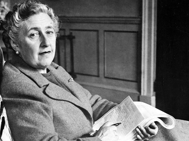 Murder, she wrote: Agatha Christie photographed in her Devonshire home in 1946: AFP/Getty Images