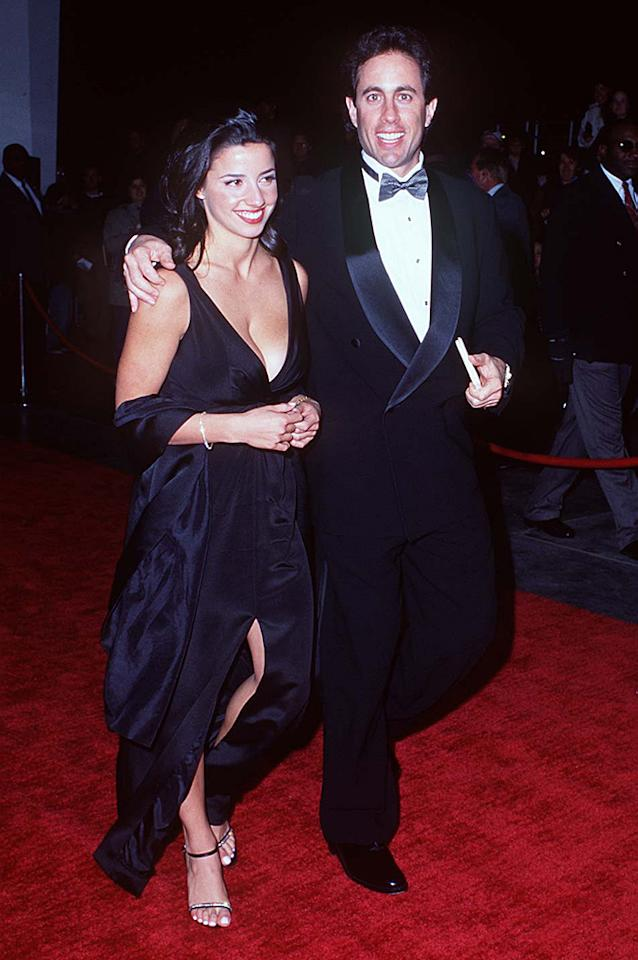 "Jerry Seinfeld was at the peak of his success while starring in his iconic TV series, ""Seinfeld,"" and had his pick of ladies – not that there was anything wrong with that. However, the one who caught his eye in Central Park in 1993 was Shoshanna Lonstein – who was just 17 and a senior at the private Nightingale-Bamford School in Manhattan. Seinfeld, who was 38 at the time, and Lonstein embarked on a five-year relationship during which he openly gushed about his young love, calling her ""the most wonderful girl in the world"" and addressing the age issue by saying, ""Shoshanna is a person, not an age. …We just get along. You can hear the click."" But not long after she moved to Los Angeles to attend UCLA and explore their relationship, they called it quits. Lonstein, now a fashion designer, later told <em>Details</em>, ""I felt like I was losing myself"" by dating Seinfeld, who she called a workaholic. ""I mean, school's fine, but you need more. And there wasn't much else. So I worked out a lot."" Seinfeld went on to marry his current wife, Jessica, in 1998, but that relationship was not without controversy either. They met weeks after Jessica had married someone else. She then quickly filed for divorce and started dating the famed comedian."