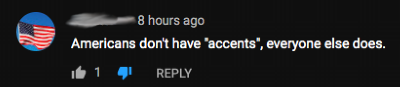 post reading Americans don't have accents