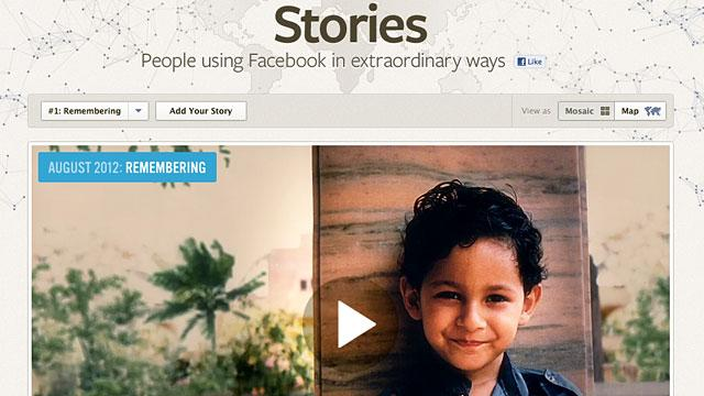 Facebook Stories: A Facebook Site With Collected Stories and Infographics