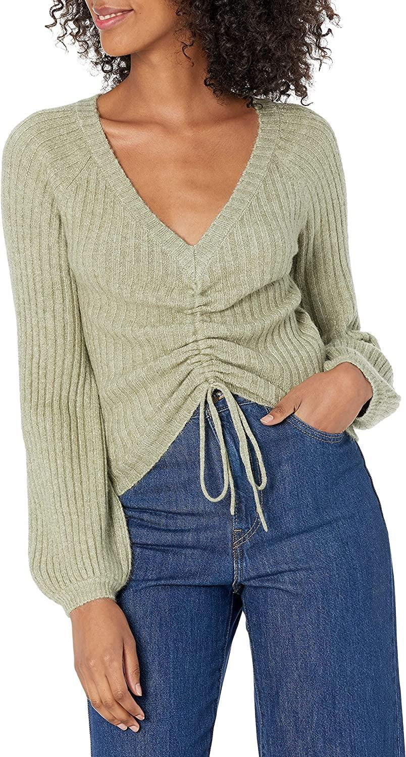 <p>As the name implies, you can cinch this <span>BB Dakota by Steve Madden Women's Make It Short Sweater</span> ($63-$88) up as high as you'd like, whether you'd like to show some skin or a cool belt instead. </p>