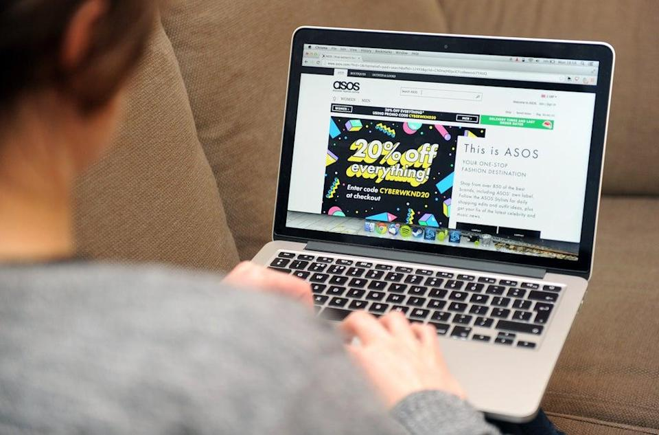 Asos customers were less likely to return the leisurewear they bought during Covid-19, pushing up profits (Tim Goode/PA) (PA Archive)