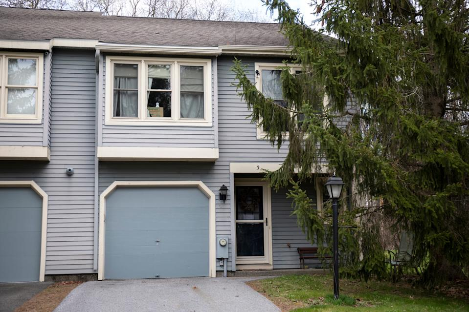 The exterior of the former townhome of NXIVM founder Keith Raniere at 3 Flintlock Lane in Clifton Park, New York on Thursday, May 3, 2018.