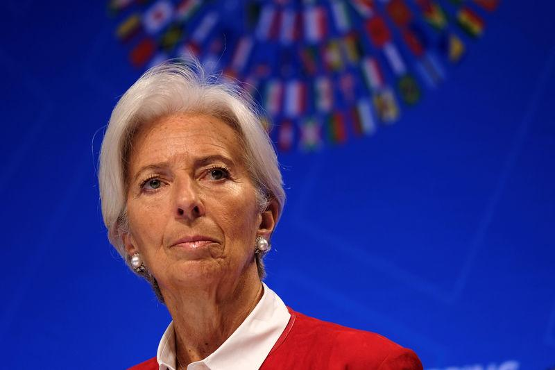 IMF Managing Director Christine Lagarde speaks at the Spring Meetings of the World Bank Group and IMF in Washington