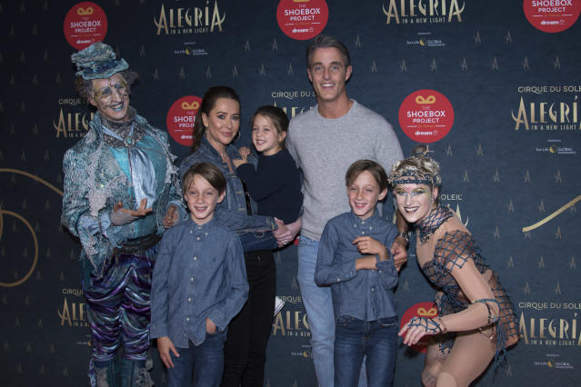 Ben Mulroney, and Jessica Mulroney with Brian, John and Ivy. (Getty Images)