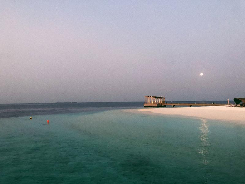 The calm and magic of the Maldives is in the sky and water.