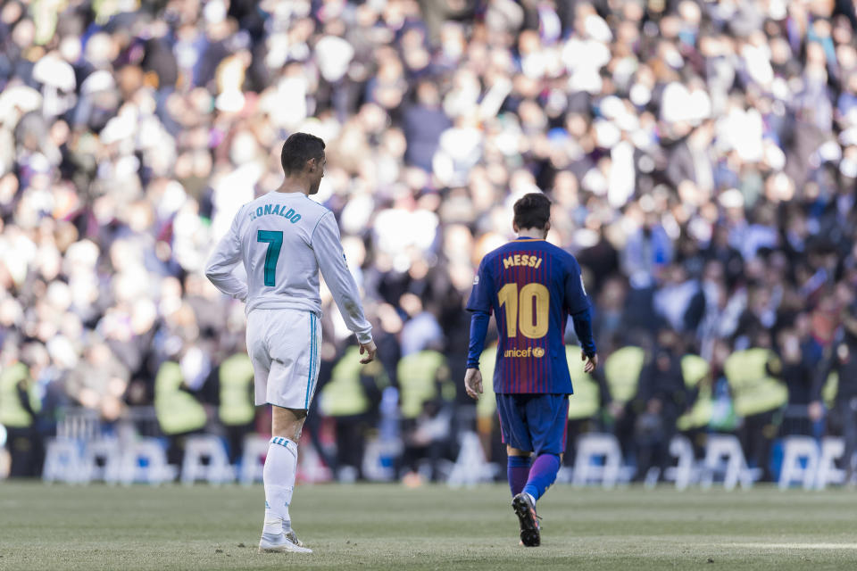 Cristiano Ronaldo and Lionel Messi remain the undisputed top two players in the world – and therefore at the 2018 World Cup. (Getty)
