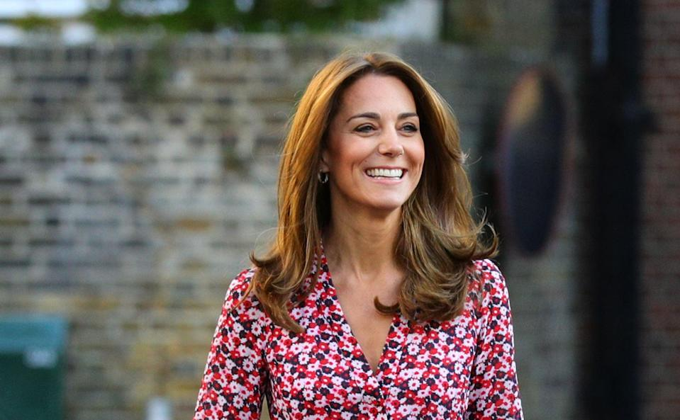 "<p>For Princess Charlotte's first day of school, aside from excitedly watching the family enter the school gates, we couldn't help but notice Middleton's lighter hair. Again, much like Princess Diana, <a href=""https://www.popsugar.com/beauty/Kate-Middleton-Summer-Hair-Transformation-46583703"" class=""link rapid-noclick-resp"" rel=""nofollow noopener"" target=""_blank"" data-ylk=""slk:the duchess slowly lightened her hair over the Summer"">the duchess slowly lightened her hair over the Summer</a>, resulting in very subtle golden highlights.</p>"