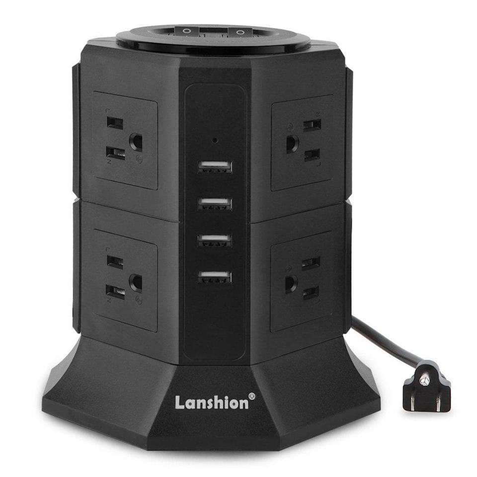 <p>You'll never run out of outlets again with this <span>Lanshion 8 Outlet Surge Protector Power Strip</span> ($26). It also features four USB ports, making it the perfect charging station for you and your roommate. </p>