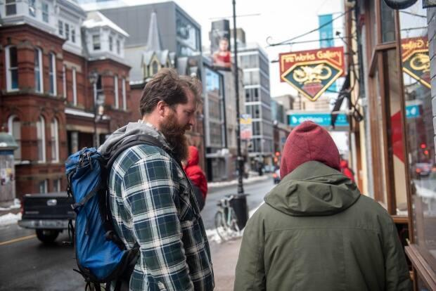Eric Jonsson is a social worker who works for a group that provides support for homelesspeople in downtown Halifax. (Stoo Metz - image credit)