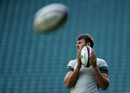 FILE PHOTO: Britain Rugby Union - South Africa Captain's Run - Twickenham Stadium - 11/11/16 South Africa's Lood de Jager during the captain's run Action Images via Reuters / Andrew Boyers Livepic