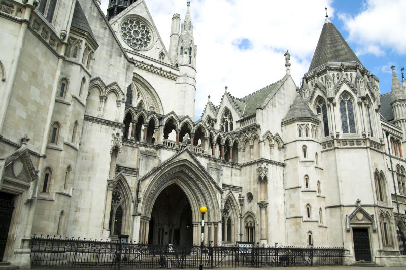 The Royal Courts of Justice erected between 1874 and 1882 are England and Wales's highest civil court