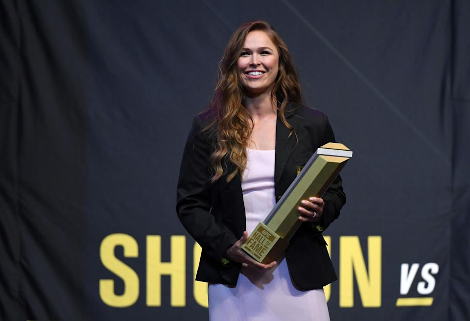 Ronda Rousey, 31, is now a member of the UFC Hall of Fame. (Getty)