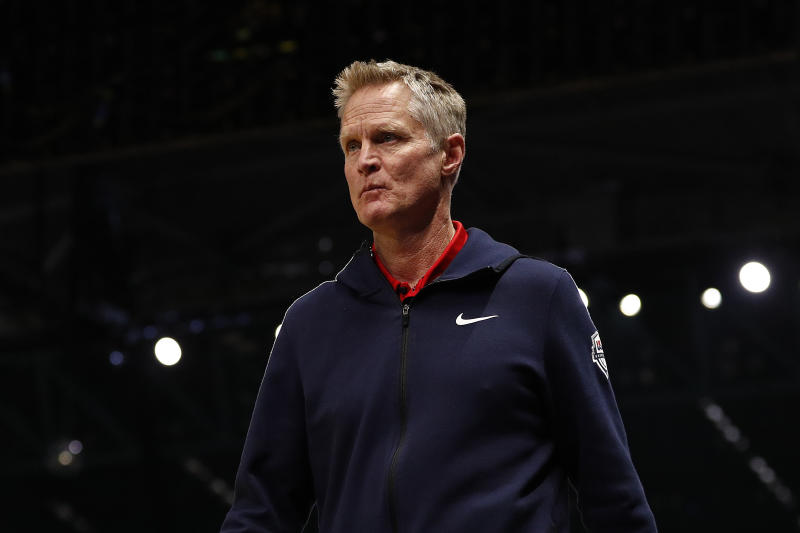 "Steve Kerr was one of the focuses of Episode 9 of ESPN's ""The Last Dance."" (Photo by Daniel Pockett/Getty Images)"