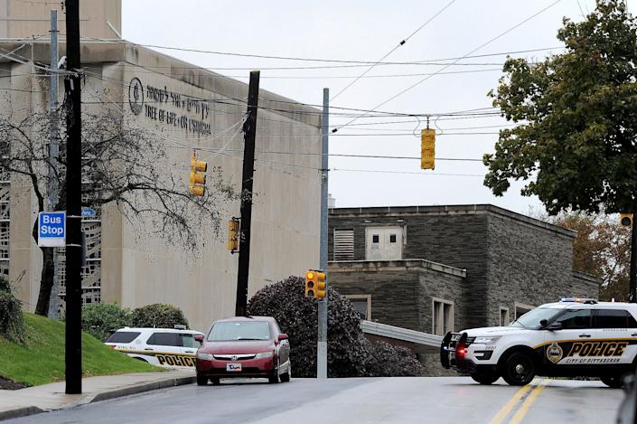 TheTree of Life Or L'Simcha Congregation in Pittsburgh. (Photo: Yahoo News Photo Staff)
