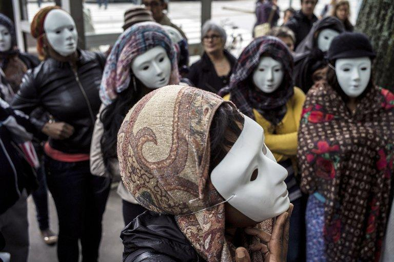 Prostitutes wearing masks demonstrate, on May 29, 2013 in Lyon, to denounce their working conditions.Where are people most unfaithful? Who uses sex toys? On a darker level, where is child rape more prevalent? French geographers have tried to answer these questions and others in a global atlas on sexuality