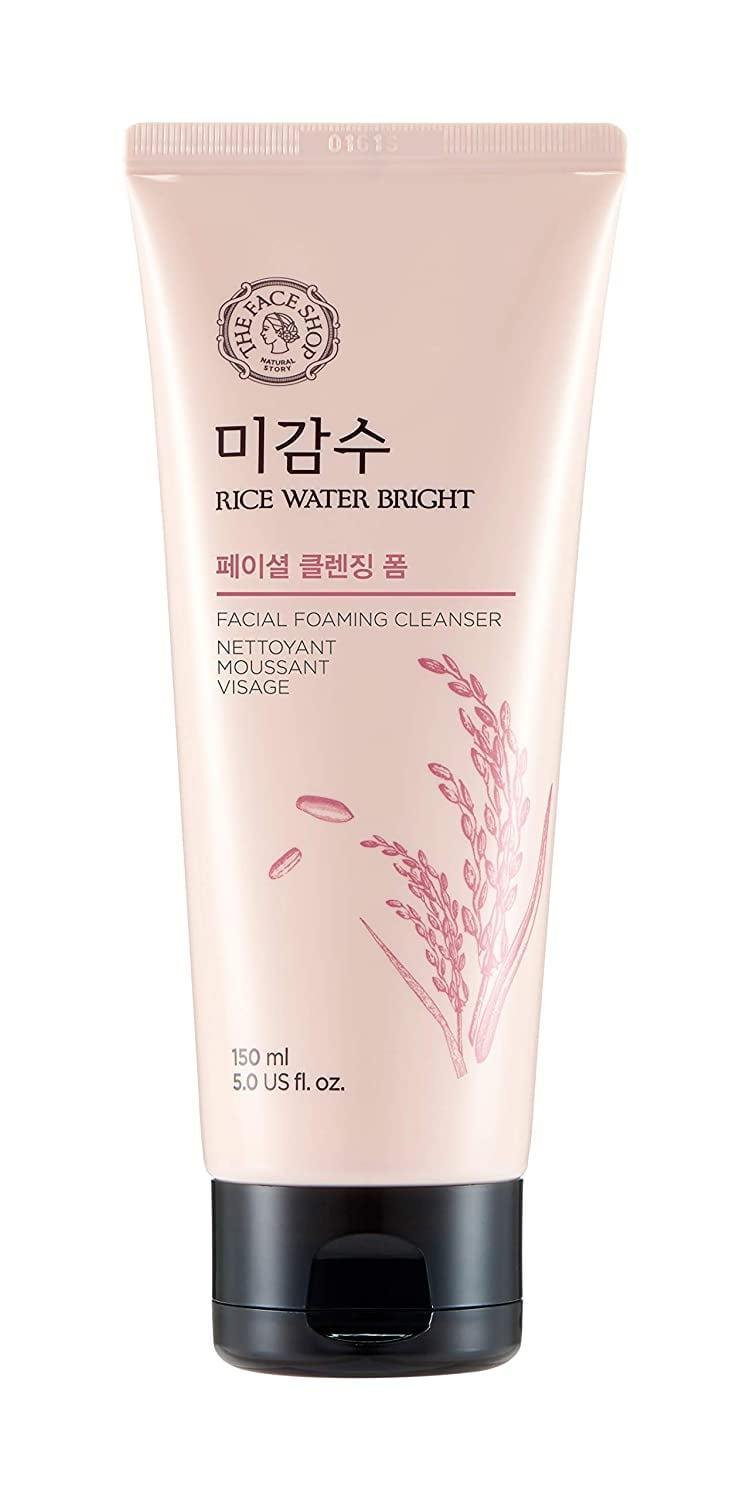 <p><span>The Face Shop Rice Water Bright Foam Cleanser</span> ($9) is a gentle cleanser that will smooth and brighten skin. </p>