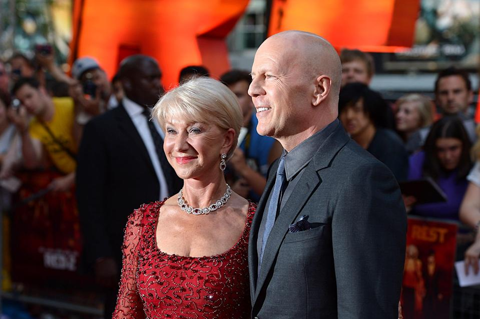 Bruce Willis and Helen Mirren arriving at the UK Premiere of Red 2, at the Empire Leicester Square cinema in London.