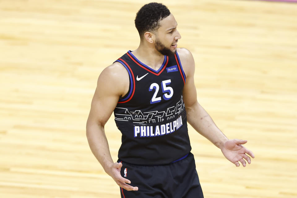 Ben Simmons with the 76ers.