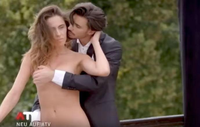 The clip shows the reality stars completely naked while on the set of a photo shoot. Source: ATV