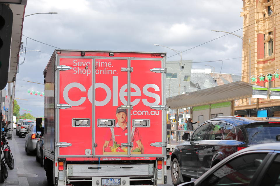 Coles delivery truck. Source: Getty Images