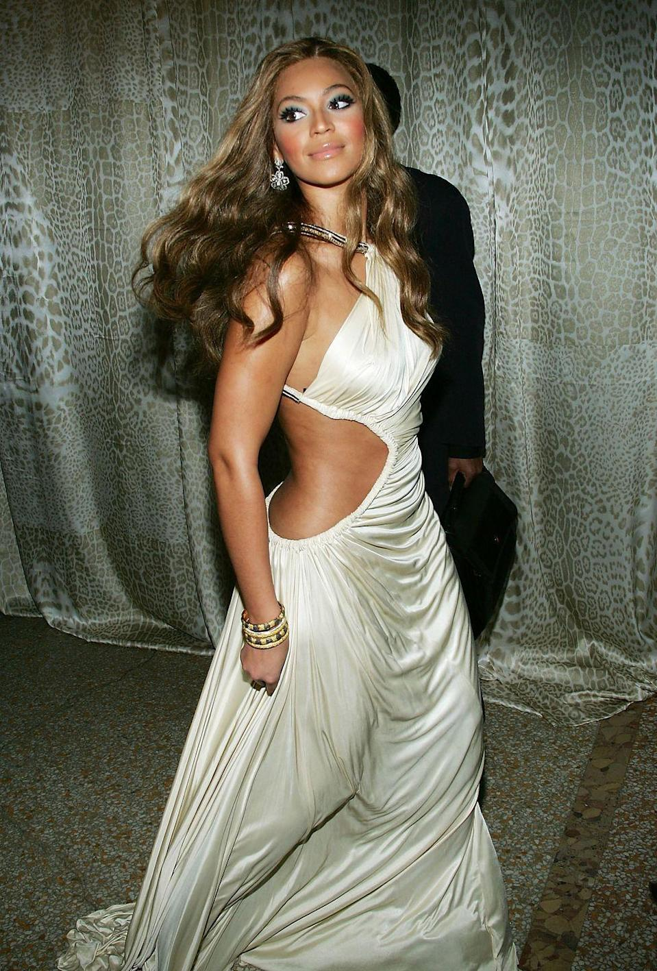<p>We all know and love Beyoncé, but notably the most influential time for her style was the early 2000s as she broke away from Destiny's Child and developed her own career. Her take on the 2000s' trends was always classic and elegant.</p>