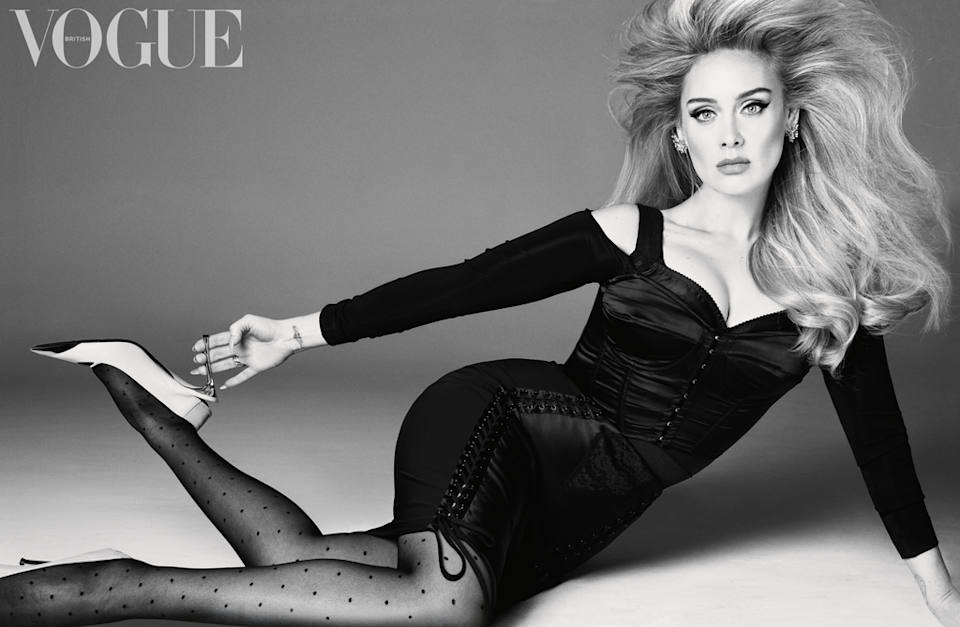 Adele stepped back firmly into the spotlight with her first interview in five years (British Vogue: Steven Meisel)