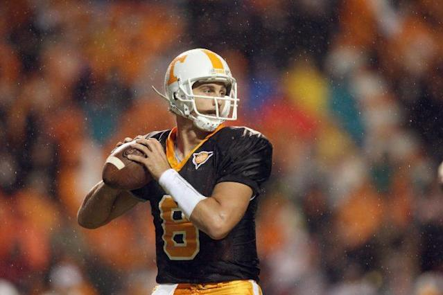 Jonathan Crompton was Tennessee's starting quarterback in 2009. (Getty Images)