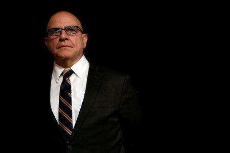 FILE PHOTO: National security adviser Lt. Gen. H.R. McMaster waits to be introduced at the FDD National Security Summit in Washington, DC, U.S., October 19, 2017.  REUTERS/Yuri Gripas/File Photo