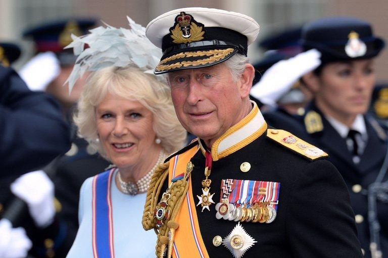 Britain's Prince Charles of Wales and his wife Camilla, Duchess of Cornwall in Amsterdam on April 30, 2013