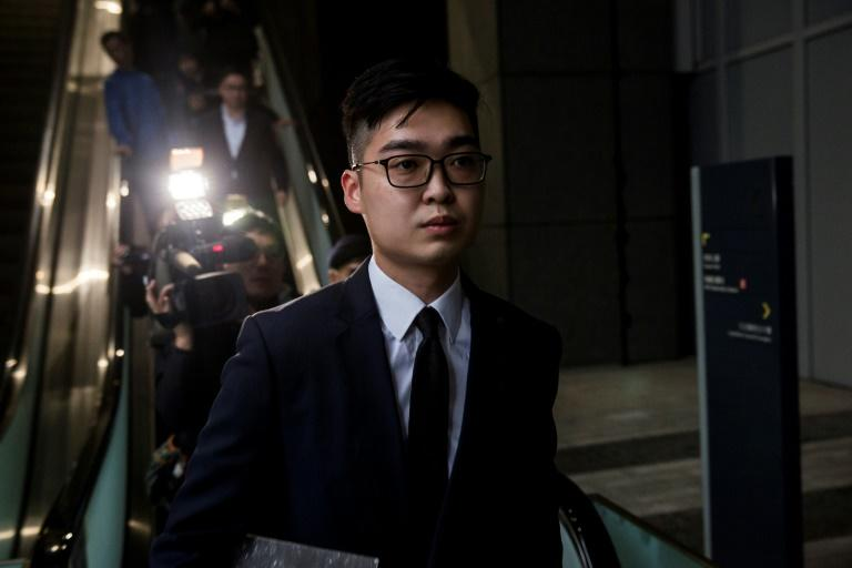 Andy Chan was detained by police at Hong Kong airport on Thursday night on suspicion of rioting (AFP Photo/ISAAC LAWRENCE)